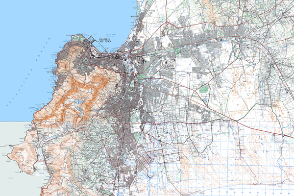 Historical topographic maps of Cape Town – Adrian Frith – developer on